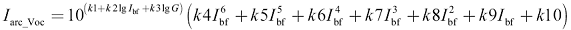 Intermediate Average Arcing Currents Equation