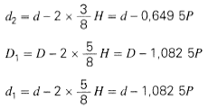 Thread Equations ISO 724